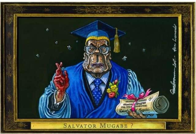 Zimbabwe military allows Robert Mugabe to lead graduation - CARTOON