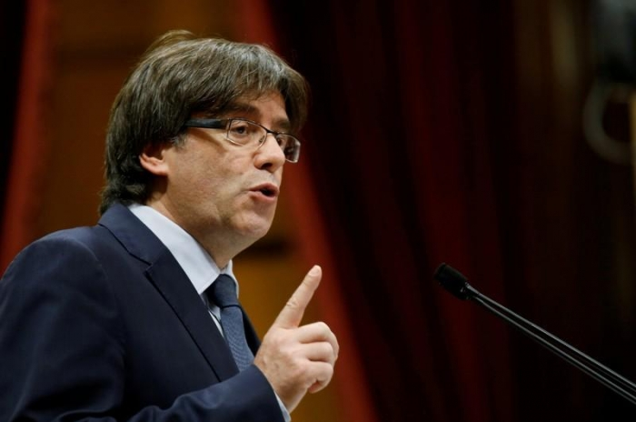 Catalonia's Puigdemont to speak at 730 EDT in Brussels