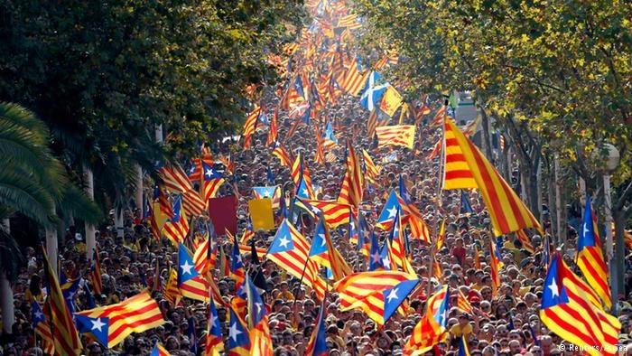 45,000 pro-Catalan independence protesters descend on Brussels