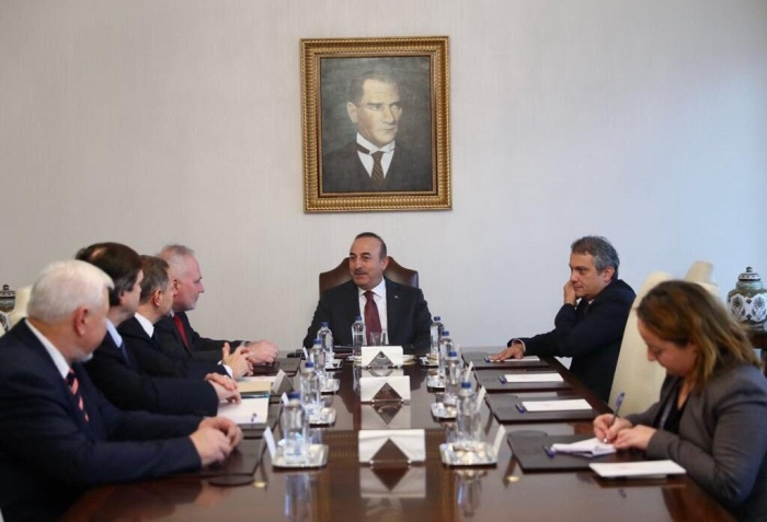 Turkey's FM meets with OSCE MG co-chairs