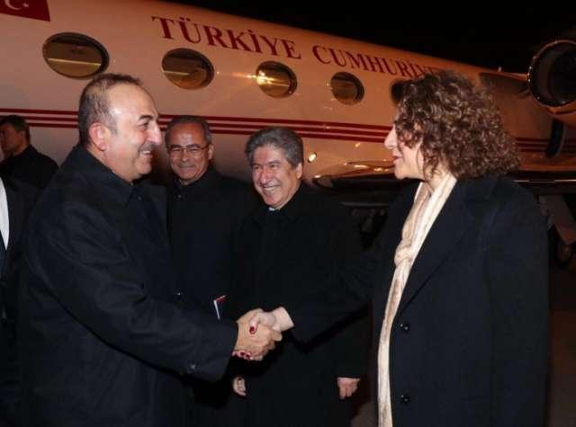 Turkish FM arrives in Baku