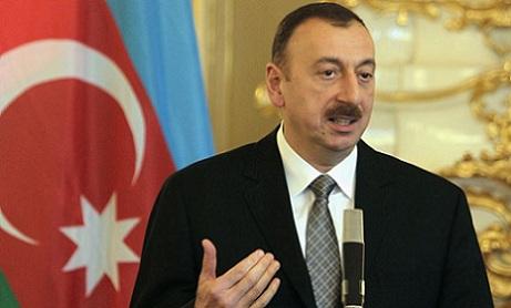 Prezident İlham Əliyev forumda çıxış edir