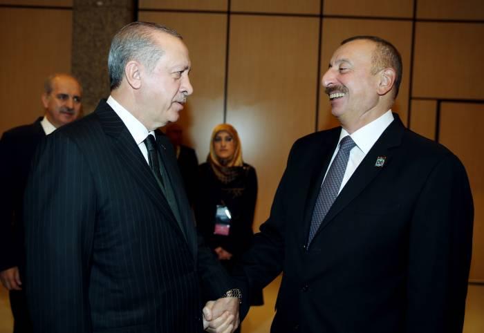 Ilham Aliyev und Erdogan aufrichtiges Treffen-FOTOS