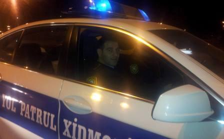 Elnur Məmmədli `sürücü ovu`na çıxdı - FOTO