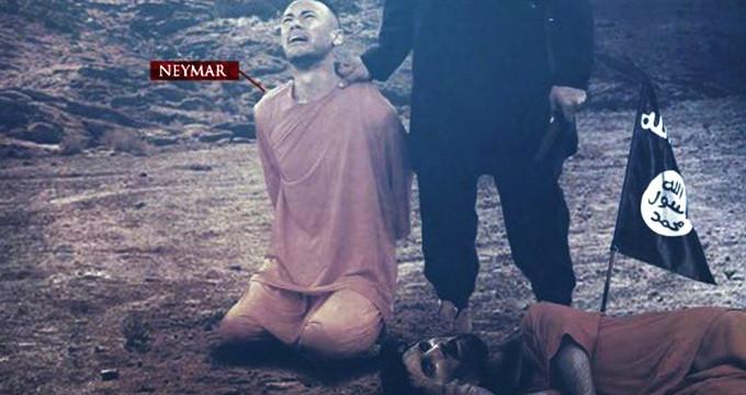 İŞİD Messidən sonra Neymarı hədəf aldı - FOTO