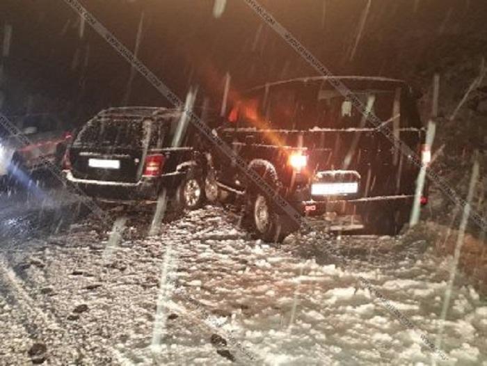 Ermənistanda hərbi istintaq idarəsinin əməkdaşı qəzaya düşdü - FOTOLAR