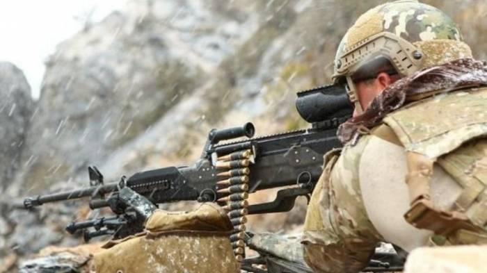 Los armenios someten a fuego a nuestras posiciones de las ametralladoras de gran calibre