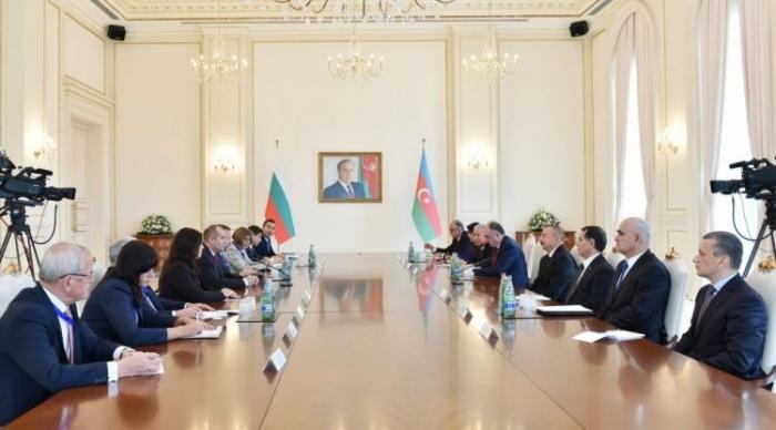 President Aliyev and President Radev make press statements