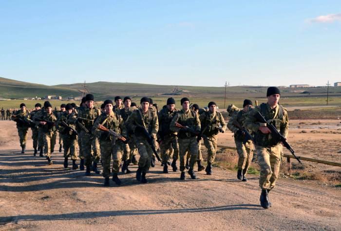 Ali Hərbi Məktəbin kursantlarının çöl çıxışları başlayıb - Fotolar