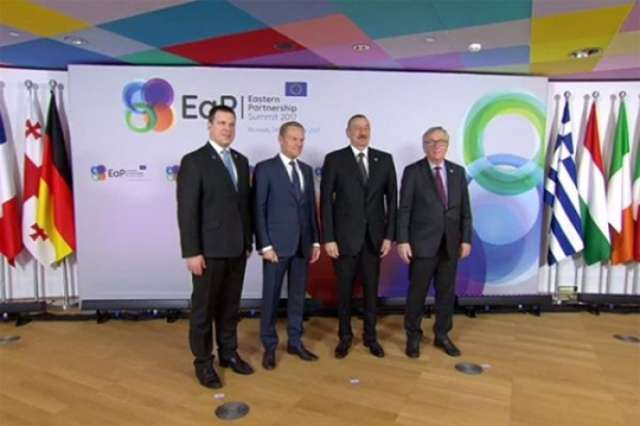 EaP countries' leaders officially welcomed in Brussels