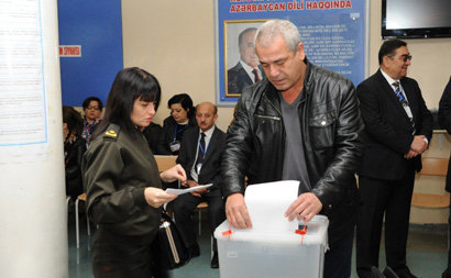 International observers monitor voting process at presidential election in Azerbaijan