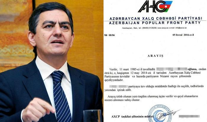 """Əli Kərimli 3 min dollara arayış satır: Mühacir biznesinin """"boz kardinalı"""""""