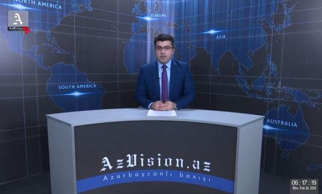 AzVision Nachrichten: Alman dilində günün əsas xəbərləri (26 fevral) - VİDEO