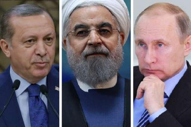 Putin, Erdogan and Rouhani to discuss Syria today