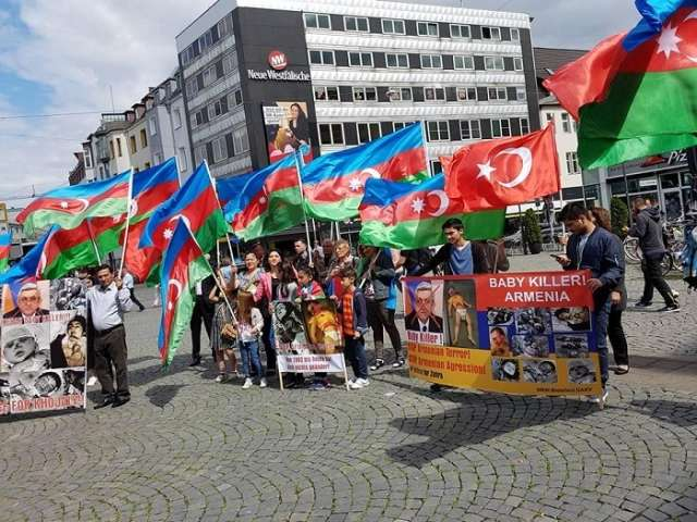 Anti-Armenian protest action held in Germany and Austria