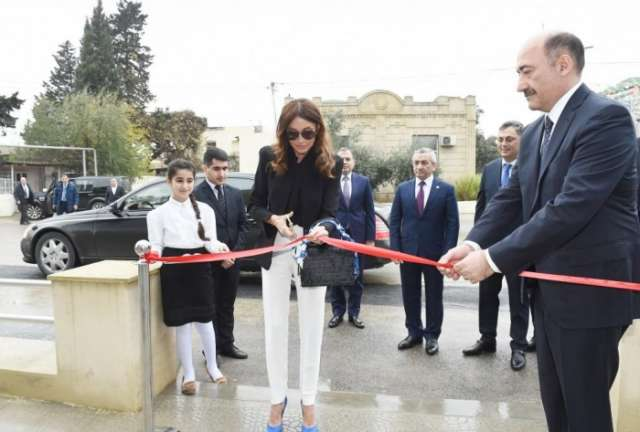 First VP Mehriban Aliyeva opens new building of Mashtagha Cultural Center