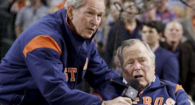Former Presidents George H. W. Bush, George W. Bush Criticize 'Blowhard' Trump