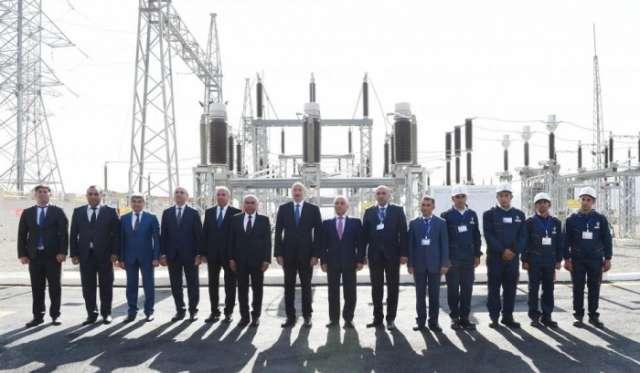 President Ilham Aliyev launches Gadabay electrical substation