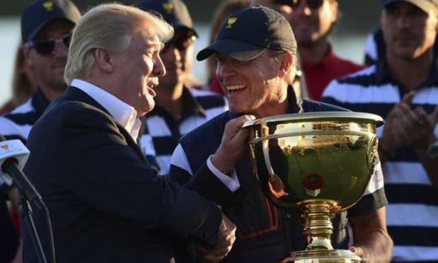 Donald Trump dedicates golf trophy to Puerto Rico amid disaster response criticism