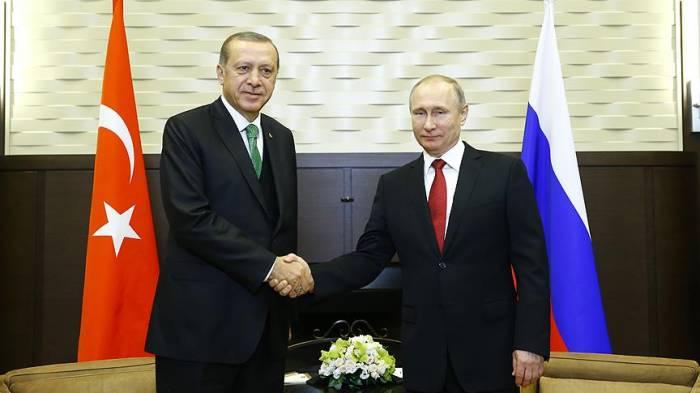 Putinlə Ərdoğanın görüşü başa çatdı - Yenilənib (FOTOLAR)