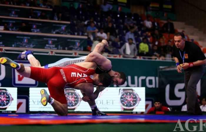 Azerbaijani Greco-Roman wrestlers to face Russia in World Cup final