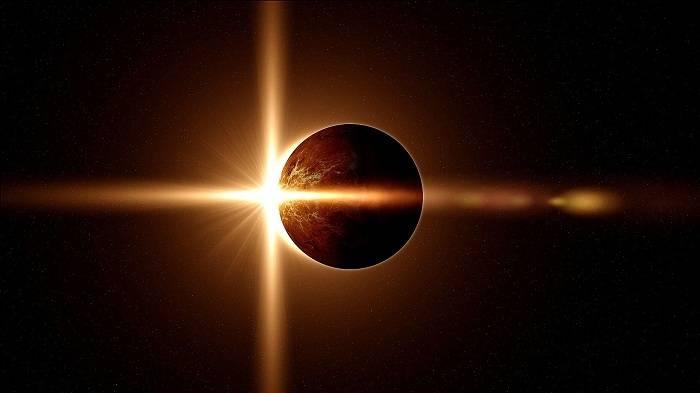 Tam Günəş tutulmasının görüntüsü - VİDEO