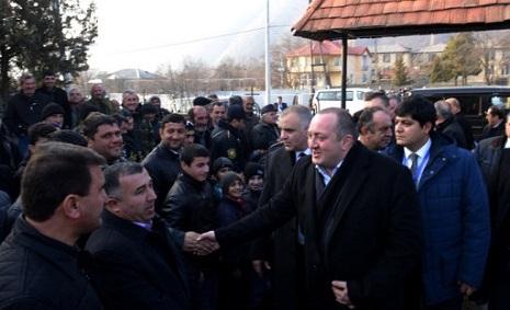 Gürcüstan Prezidenti Qaxda - FOTOLAR