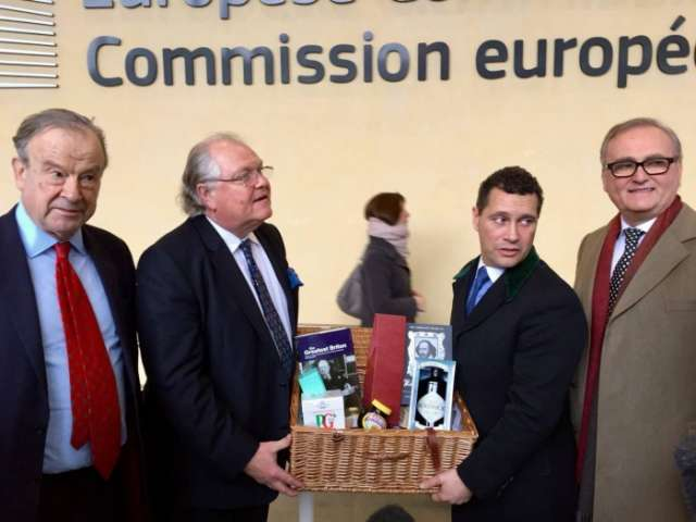 Brexiteers' basket gift meant to make a point to EU backfires