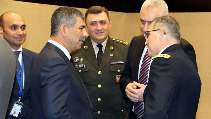 Azerbaijani Defense Minister attends the NATO meeting