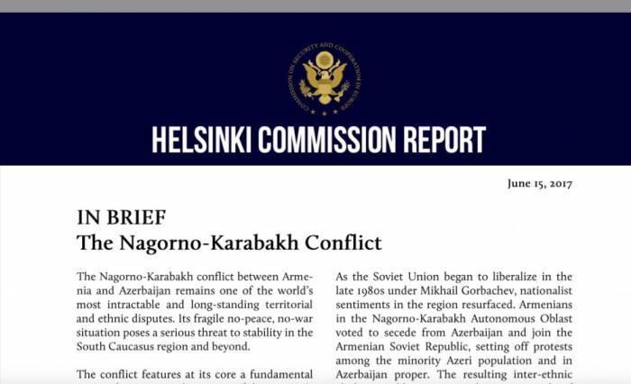El informe de la Comisión Helsinski tocante a Karabaj
