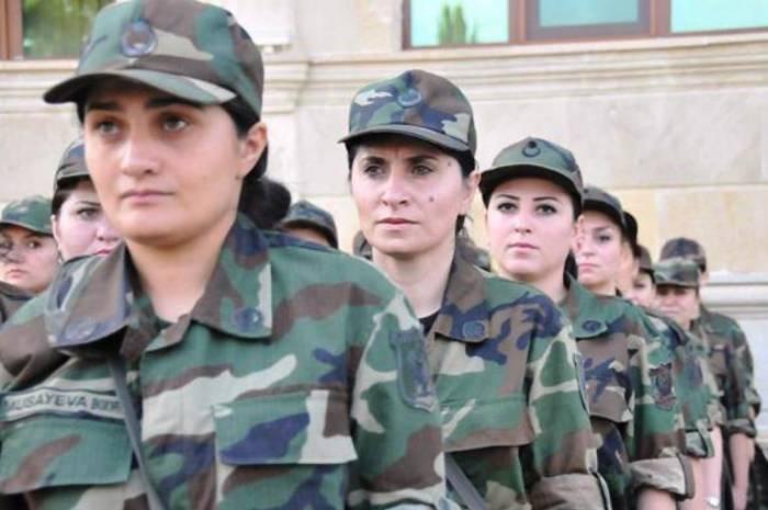 25 qadın hərbi xidmətə götürülüb-
