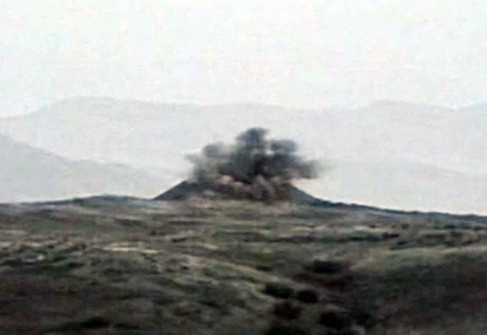 Ermənistanın iki hərbi obyekti dağıdıldı - VİDEO