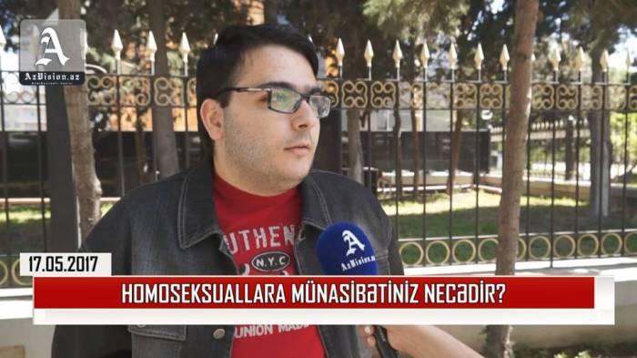 Cəmiyyətin homoseksuallara münasibəti necədir? - VİDEOSORĞU