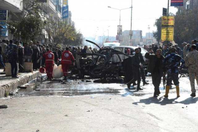 Bus bomb kills eight passengers in Syria's Homs city: state media