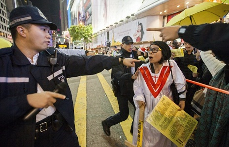Hong Kong campus protest showdowns loom but tension eases