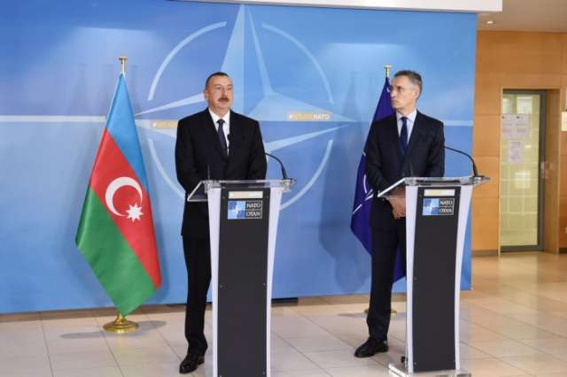 Azerbaijani President, NATO Secretary General made press statements