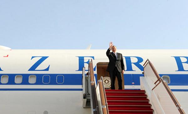 Azerbaijani leader heads to Minsk