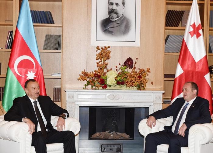 "Azerbaijani, Georgian presidents visit ""Tea house"" training center"