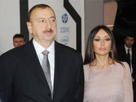 Prezident və xanımı Soyqırım abidəsinin açılışında