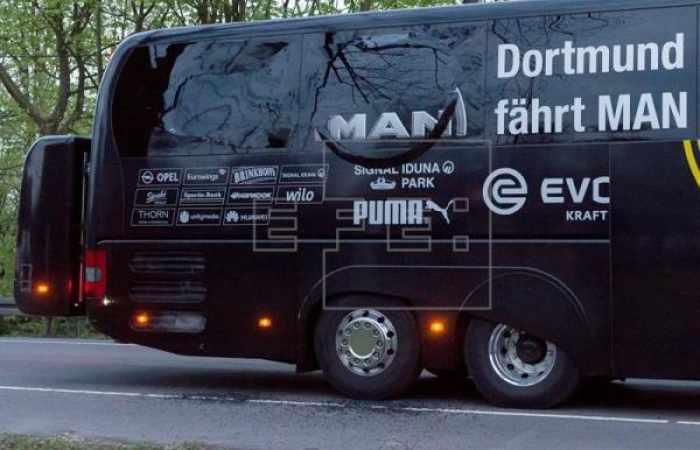 Detenido un sospechoso por el atentado contra el autobús del Dortmund