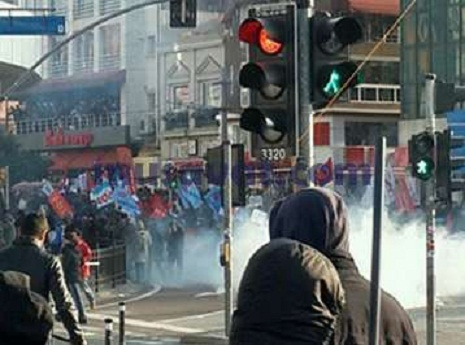 İstanbulda gərgin anlar- FOTO