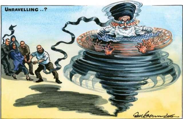 Iran protests to topple Mullah's regime - CARTOON