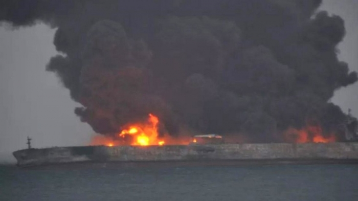 Iranian oil tanker in East China Sea could burn for a month: South Korea official