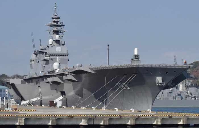 Le Japon envoie son plus gros navire militaire au large de la péninsule coréenne