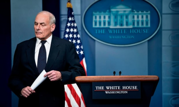 Emotional John Kelly lashes out at Trump critics over military deaths