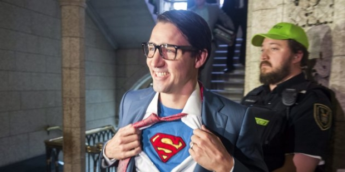Justin Trudeau dressed up for Halloween, and it's a little too self-aware