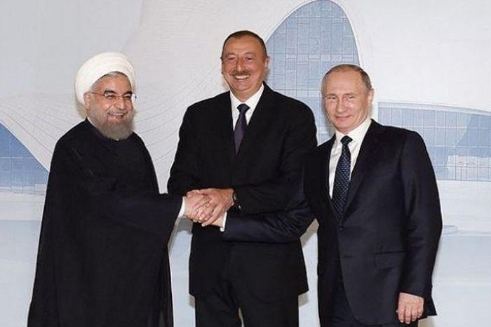 سيجتمع الهام علييف مع بوتين وروهاني في طهران