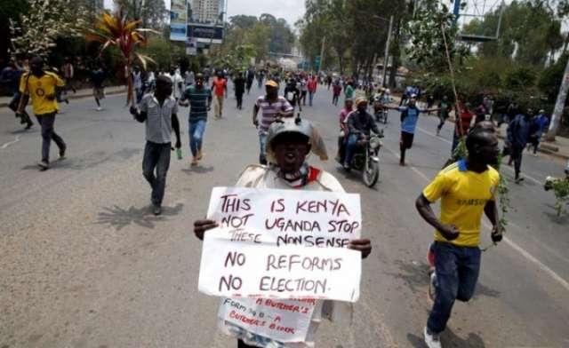 Kenya bans street protests amid election row