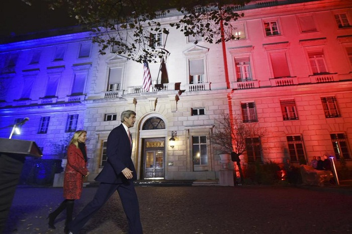 U.S. Secretary of State in Paris to consult with French leaders on attack
