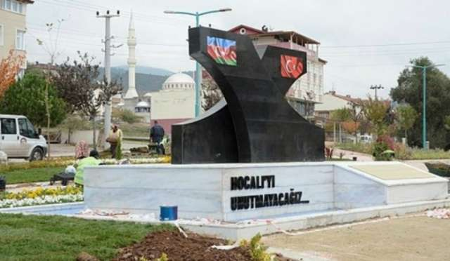 Khojaly memorial erected in Kocaeli, Turkey